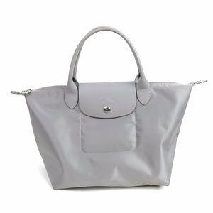 Longchamp Le Pliage Neo Small Bag Gray Pebble Tote